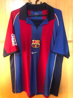 Camisa Barcelona 2001/2002 Home - Rivaldo 10