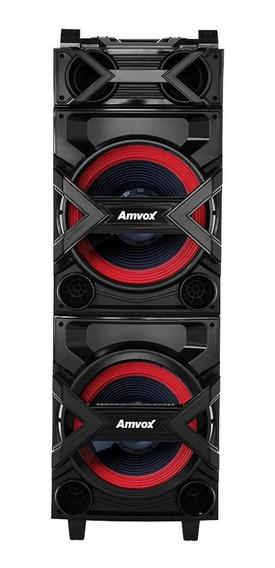Caixa Amplificada Amvox Bluetooth Usb 750w Aca 750 Turbo