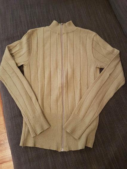Saquito Sweater Beige Con Cierre