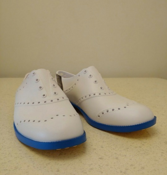 Biion Golf Zapatos Shoes Blanco Con Azul Usados