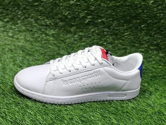 Tenis Lecoq Sportif Blanco Con Rojo Azul Hombre Og+envgratis