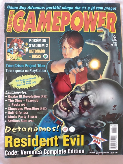 Revista Super Gamepower Nº 87 Resident Evil Code Veronica