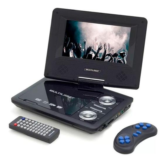 Dvd Player Portátil Kids Teens Multilaser Com Tela Giratória