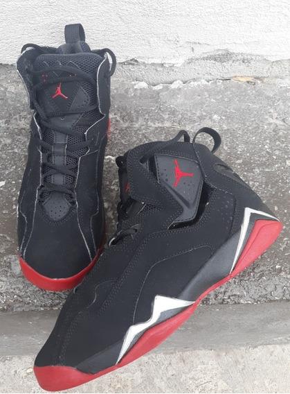 Jordan True Flight Gs Black Red Originales # 23.5 Mex