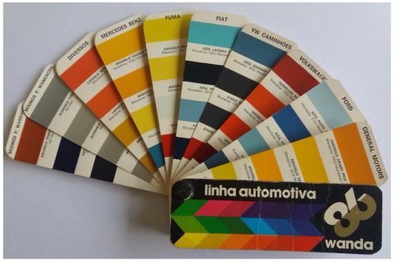 Leque De Cores Automotivas Wanda 1986 Raridade