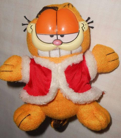 Garfield Papai Noel De Pelúcia 16cm Natal Habib