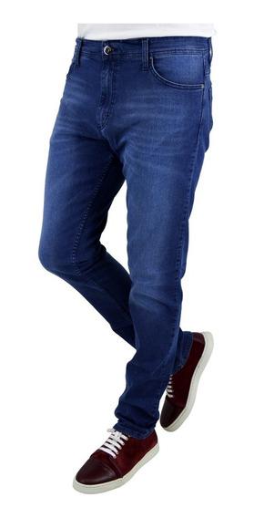 Jeans Hombre Pato Pampa Con Recorte Cuero Negro