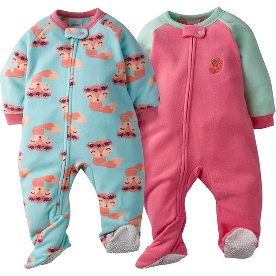 Pijama Gerber Polar Niña Pack X 2