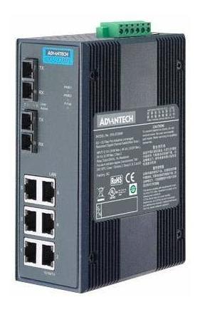 Switch Advantech Eki-2728m-be Enet Rj45x6 Scx2 10 100mbps ®