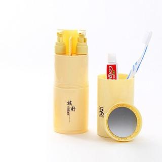 Creativa 5 1 Sub-botella Peine Espejo Aumento Viaje Wash