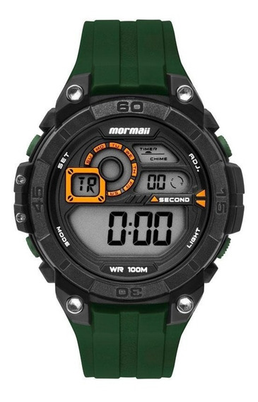 Relógio Mormaii Mo2019ab/8v Preto Verde G-shock