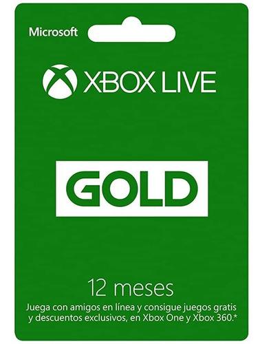 Tarjeta Xbox Live Gold Usa
