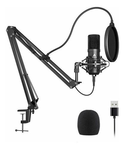 Micrófono Maono AU-A04 condensador cardioide negro
