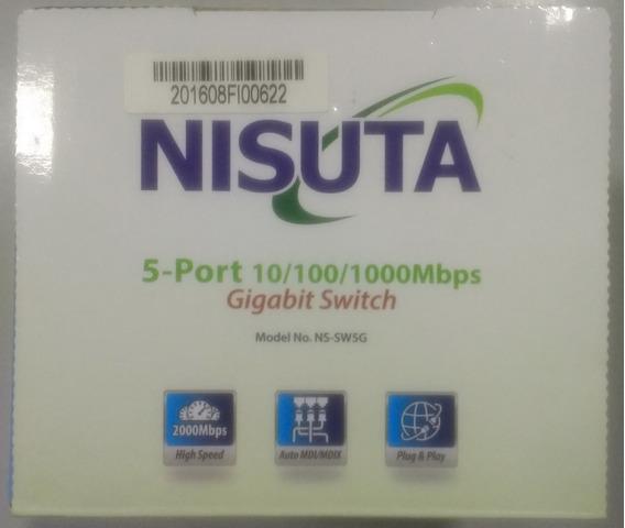 Switch Nisuta 5 Bocas Gigabit Ethernet Ns-sw5g Sin Caja