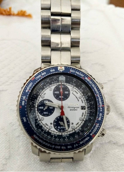 Relógio Seiko Crono Sna 411 Fligthmaster Pilot Original