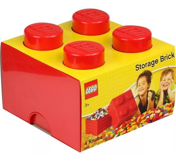 Lego Caixa Organizadora Original Baú Armazenamento Vermelho