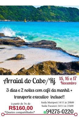 Excursão Arraial Do Cabo Rj 15 A 17 Nov