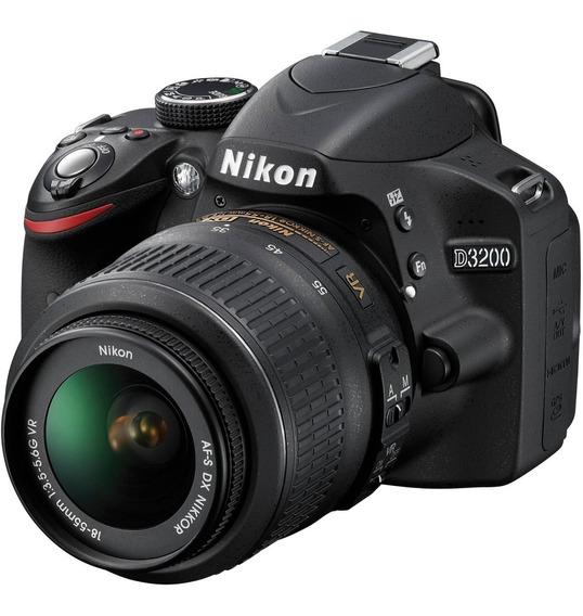 Nikon D3200, Full Hd, 18-55mm, 16gb. Veja Mais Na Descrição!