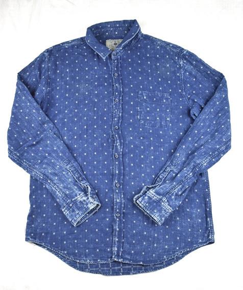 Camisa Zara Man Para Hombre Tipo Mezclilla Talla Xl