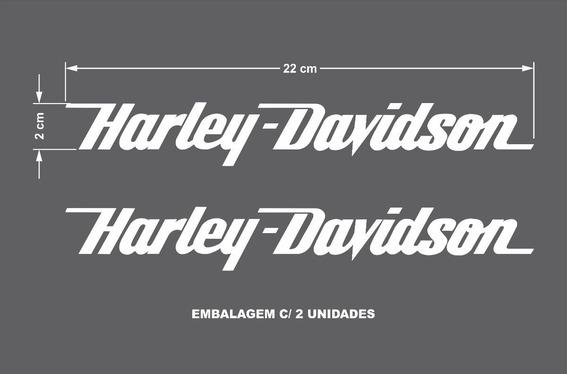 Adesivo Harley Davidson /balança /custom /22x2cm 2 (par)