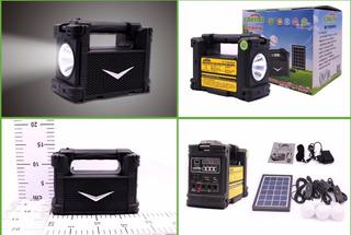 Kit Solar Portátil+panel Solar+3 Focos+radio Fm+reprod Usb