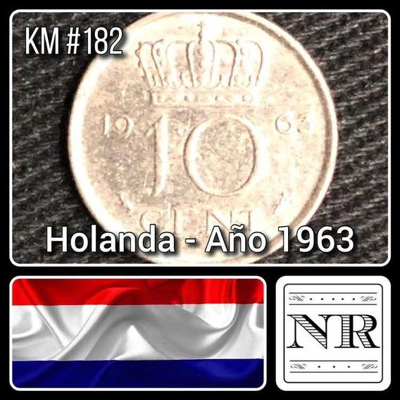Holanda - 10 Cents - Año 1963 - Km # 182 - Juliana