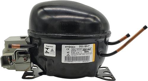 Imagem 1 de 7 de Motor Compressor 1/5 Em2u 60hlp R134a 127v 220v Lote
