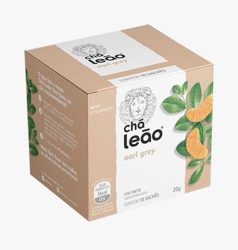 Chá Leão Premium - Earl Grey - 10 Sachés