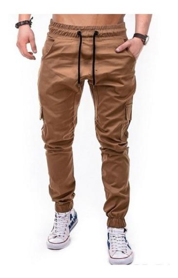 Pantalon Jogger Cargo Puño Gabardina Hard Work Men Premium