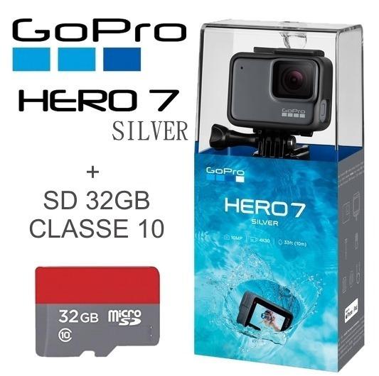Gopro Hero 7 Silver Câmera Filmadora De Ação 32gb Classe 10