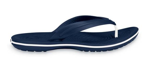 Sandalia Crocs Caballero Crocband Flip Azul Marino