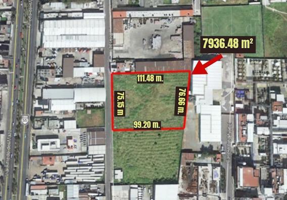 Vendo Terreno Industrial En Toluca 8000 M²