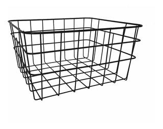 Caja Canasto Cesto Organizador Deco Chico Negro 30x25x15cm