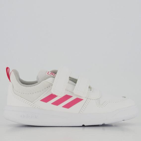 Tênis adidas Tensaur Infantil Feminino Branco E Rosa