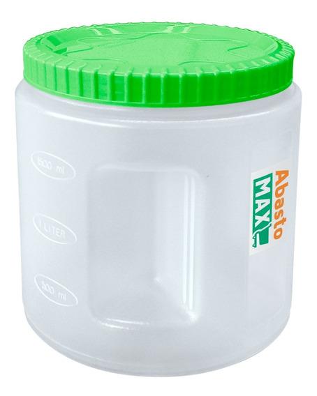 Bote Contenedor Cilíndrico Con Tapa Para Alacena 2.2 Litros
