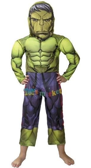 Disfraz Hulk Con Musculos Traje Musculoso De New Toys Marvel