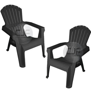 2 Silla Sillon Sofa Mascardi Gran California Negro Plast Cjf