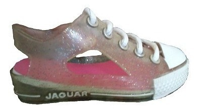 Sandalias Jaguar Nena Infantil Negro - Cristal Talle 25