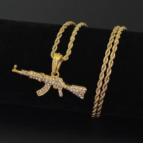 Correntes Banhada A Ouro Importada Ak47, Mini Uzi Etc...