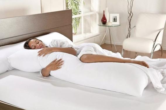 Travesseiro De Corpo Branco Gigante 0,50 X 1,40 Não Baixa!!