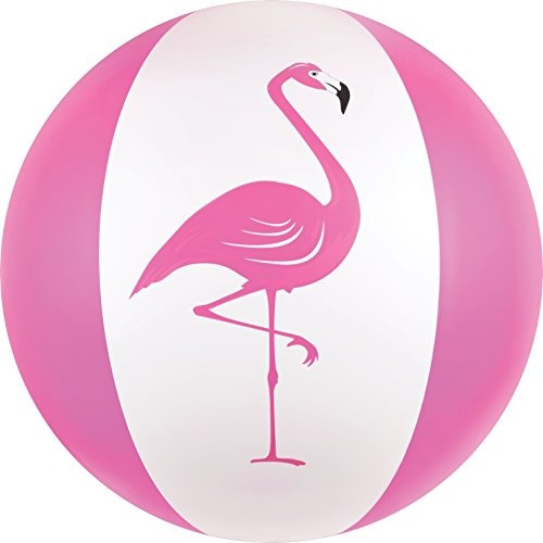 Bolas De Playa Del Canguro; Pelota De Playa Jumbo Pink Flami