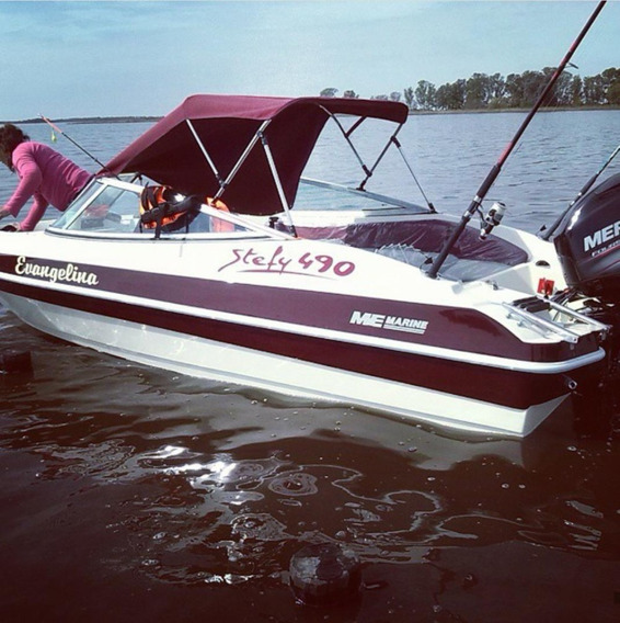 Lancha Stefy 490 Mercury 60 Hp 4 Tiempos Impecable