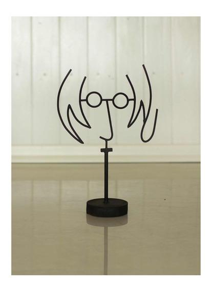 Artesanía En Hierro, Figura De John Lennon
