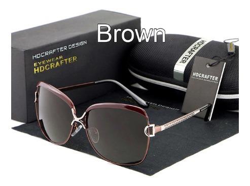 Óculos De Sol Feminino Hdcrafter Polarizado Proteção U400