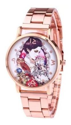 Relógio Feminino Sports Rose Gold Princess Steel Quartz