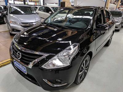 Nissan Versa 1.6 Sl Preto 2019 (completo + Banco De Couro)