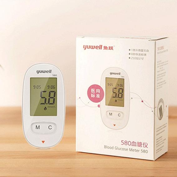 Yuwell 580 Portátil Medidor De Glucosa En Sangre Diabético D