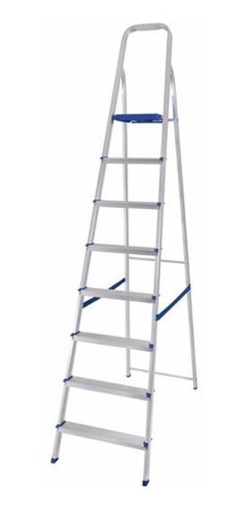 Escalera Aluminio Mor 8 Escalones 1.73mts Altura Utilizable
