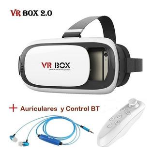 Lentes Vr Box Mas Auriculares Y Control Bluetooth