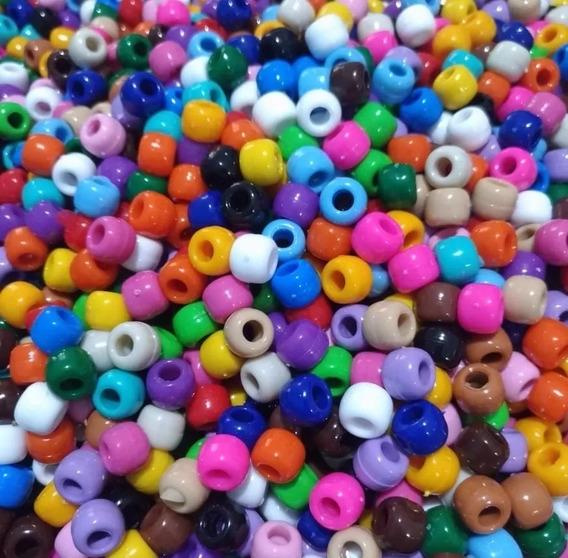 100 Miçangas Tererê Barril Pulseiras Coloridas 10mm Plástico